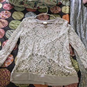 EUC Anthropologie lace top medium